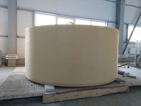 Уником-Сервис выпустил 1,5-тонный барабан камнерезного станка