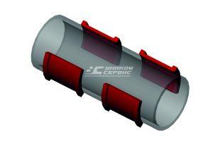 Полиуретановый вкладыш седлового подшипника УС 001.023.00В для ЭКГ